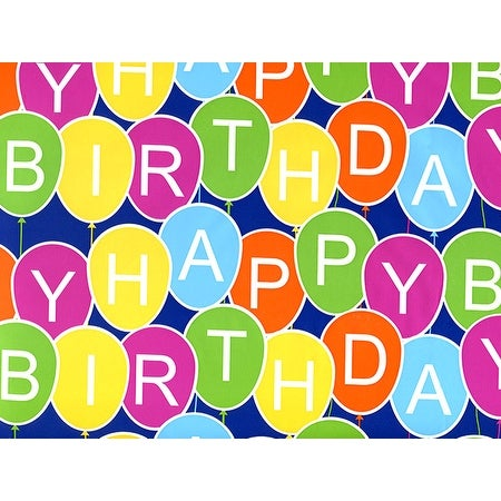 Shop Pack Of 1 24 X 417 Birthday Balloons Gift Wrap Counter Roll For 175 200 Gifts