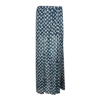 Michael Kors Women's Floral Print Slit Maxi Skirt