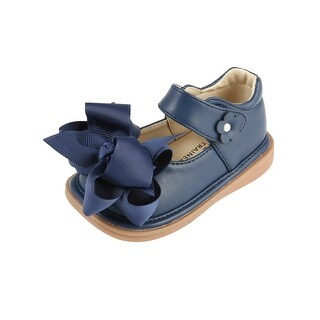 Mooshu Trainers Little Girls Navy Bow Squeaky Mary Jane Shoes