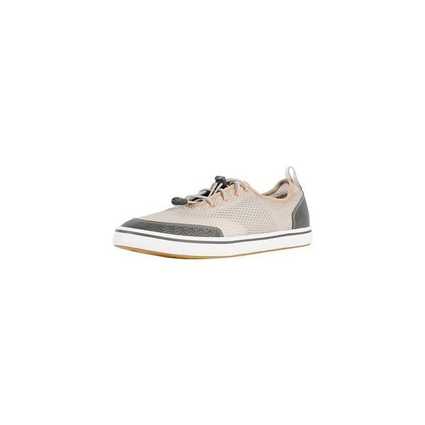 Xtratuf Men's Grey Riptide Deck Shoes w/ Iconic Chevron Outsole Pattern - Size 7.5