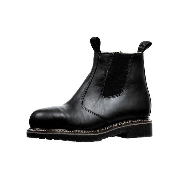 53b066a1545 Boulet Western Boots Mens Congress Ankle Elastic Everest Black 6121