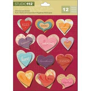 Studio 112 Dimensional Stickers-Hearts