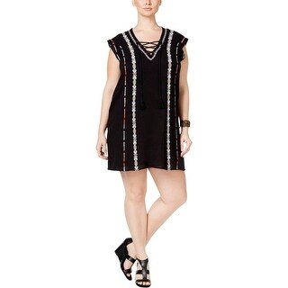 Jessica Simpson Womens Plus Brinley Tunic Dress Cotton Embroidered