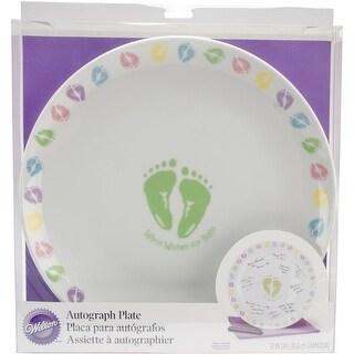 "Autograph Plate 12""-Baby Feet"