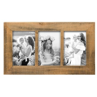 Link to Foreside Home & Garden Natural Wood 4 x  6 inch Decorative Wood Picture Frame - Holds Three 4x6 Photos Similar Items in Decorative Accessories