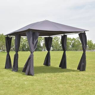 Costway Outdoor 10x13 Gazebo Canopy Tent Shelter Awning Steel Frame W Walls