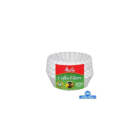 Melitta 629524 Basket Coffee Filter 200 Counts (Single Pack) Basket Coffee Filters 200 Counts