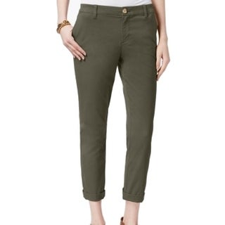 Tommy Hilfiger NEW Olive Green Women's Size 10X25 Capris Cropped Pants