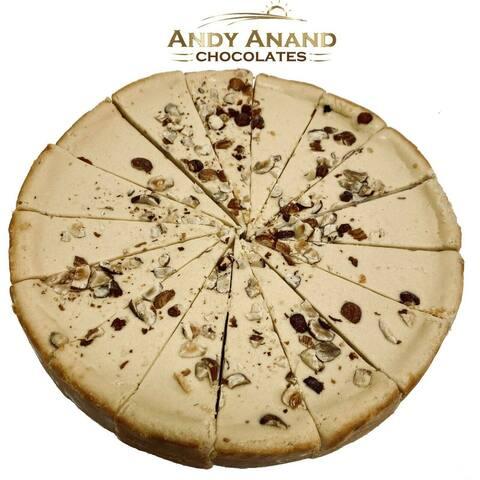 "Andy Anand Sugar Free Mocha Hazelnut Cheesecake 9"" (2 lbs)"