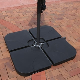 Heavy Duty Cross Umbrella Water Sand Cantilever Base Set of 4 Weights