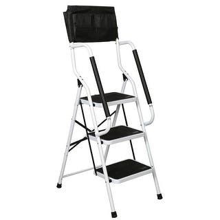 White Metal 3 Step Heavy Duty Ladder Free Shipping Today