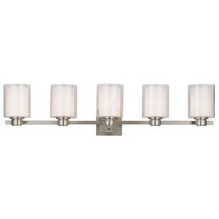Design House 556175 Oslo 5 Light Wall Sconce with Frosted White Shades