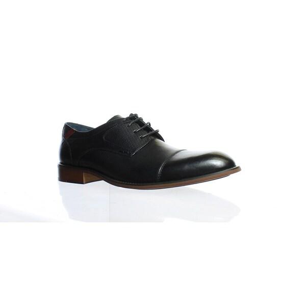 0f4aa1e9ee9 Shop Steve Madden Mens Derium Black Leather Oxford Dress Shoe Size ...