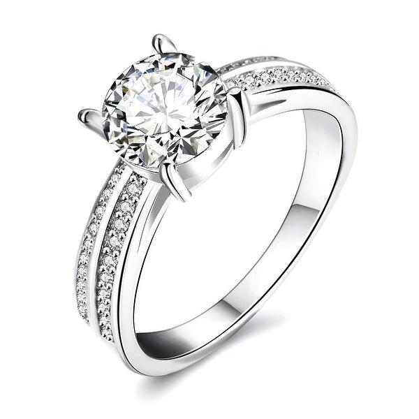 Madison Ave Inspired White Gold Ring