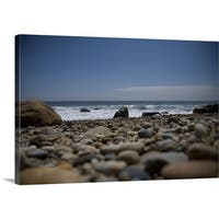Premium Thick-Wrap Canvas entitled Montauk Coast, New York - Multi-color