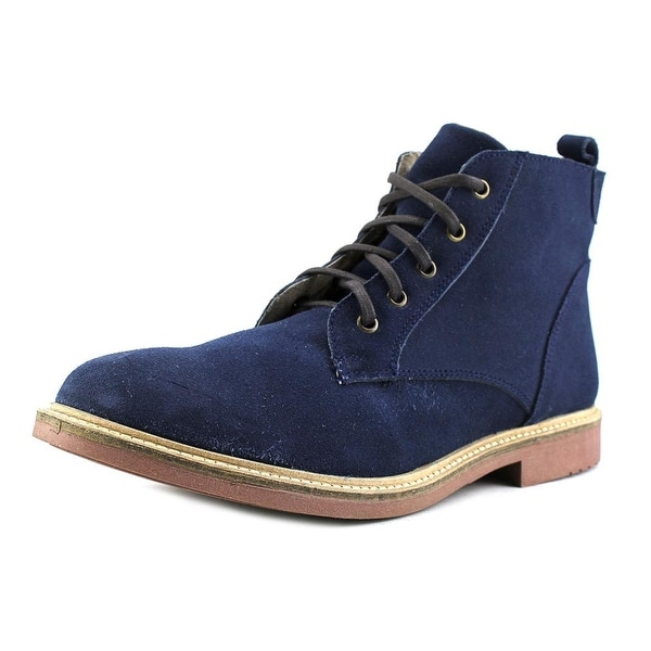 Independent Boot Company Deacon Men Round Toe Suede Blue Chukka Boot