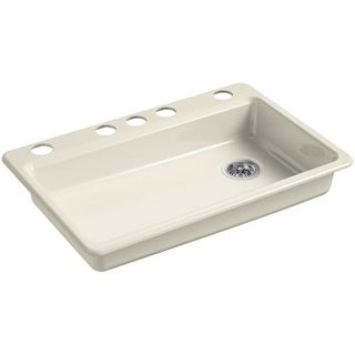 kohler k 8689 5u riverby 33   single basin cast iron kitchen sink for ada compliant kitchen sinks for less   overstock com  rh   overstock com