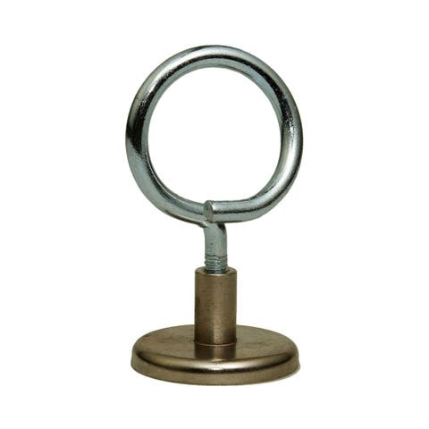Offex 1.25 Inch Magnetic Bridle Ring, 90 lbs Pull Strength, 1/4-20 Threading, 10 Pieces/Bag
