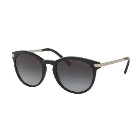 Michael Kors Women's MK2023 316311 53 Round Metal Plastic Black Grey Sunglasses
