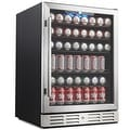 """Kalamera KRC-150BV 175 Can Beverage Cooler Refrigerator 24"""" Built-in Single Zone Touch Control with Stainless Steel Door - Thumbnail 0"""