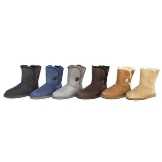 Ugg Australia Bailey Button   Round Toe Suede  Winter Boot