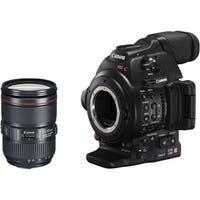 Canon EOS C100 Mark II with Dual Pixel CMOS AF & EF 24-105mm f/4L IS II USM Zoom Lens Kit (Intl Model)