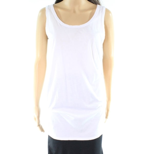 2cec6a89f6a Shop C C California NEW White Womens Medium M Scoop Neck Slub Knit Tank Top  - Free Shipping On Orders Over  45 - Overstock - 20865015