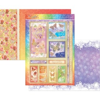 Hunkydory Flutterbye Rainbow A4 Topper Set-Rainbow Brights