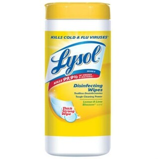 Lysol 1920081145 Disinfecting Wipes, Lemon And Lime Blossom Scent