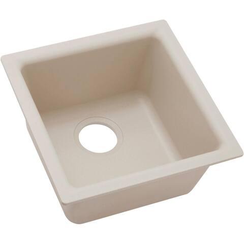 "Elkay ELG1616 Quartz Classic 15-3/4"" Single Basin Bar Sink for Drop In or Undermount Installations"