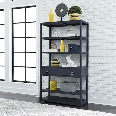 Midnight Wire Brushed Denim Accent Bookcase