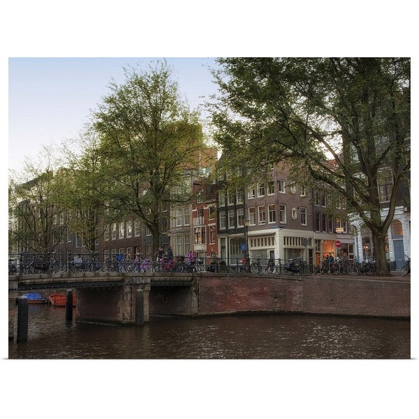 """""""Herengracht Canal, Central Amsterdam, Netherlands"""" Poster Print"""