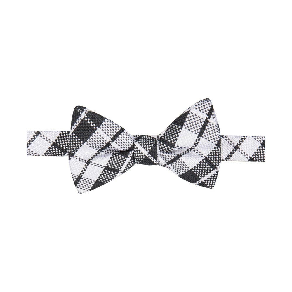 Countess Mara Mens Textured Pre-tied Bow Tie Black Neat