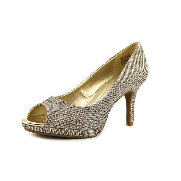 Bandolino Supermodel Women Peep-Toe Synthetic Gold Heels