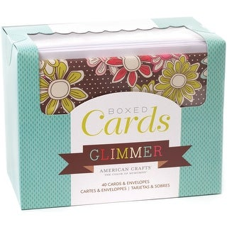 """American Crafts A2 Cards W/Envelopes (4.375""""X5.75"""") 40/Pkg-Glimmer"""