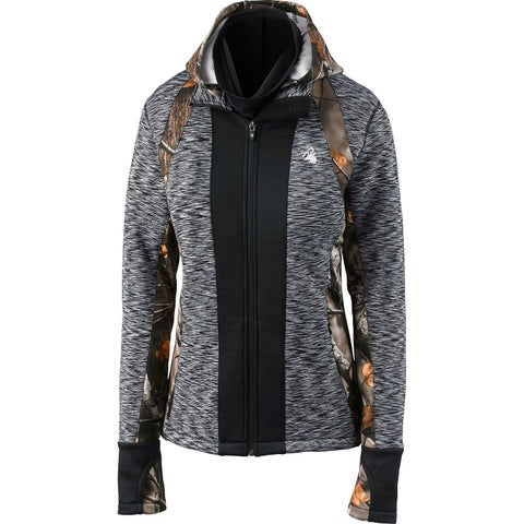 Legendary Whitetails Women's Agility Full Zip Camo Performance Hoodie