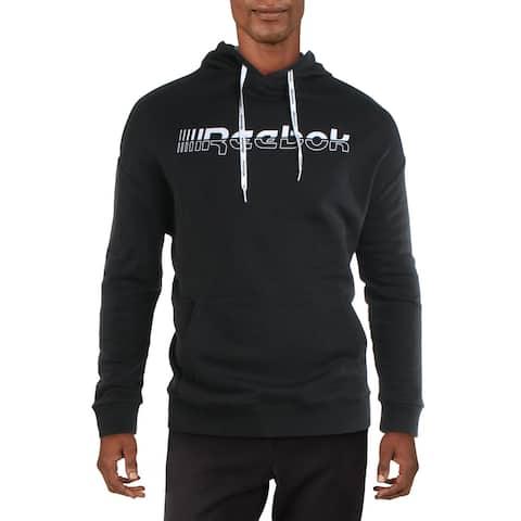 Reebok Mens Meet You There Hoodie Sweatshirt Fitness - Black - M