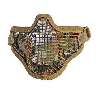 Army Fan Outdoor Protection Untensil Half Face Wire Protector Field Operation Protection Mask Sports Mask Brown 2