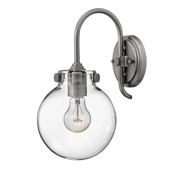 Hinkley Lighting 3174 1-Light Indoor Wall Sconce with Clear Globe Shade from the Congress Collection - n/a
