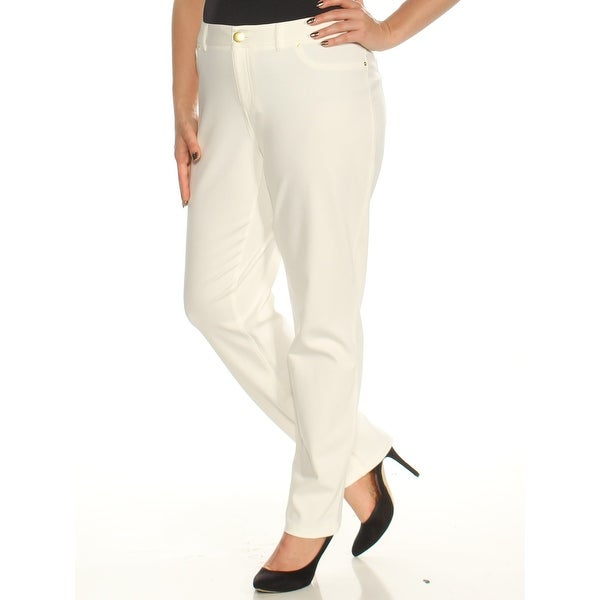 d3c3e1d4b Shop Womens Ivory Wear To Work Skinny Pants Size 14 - Free Shipping On  Orders Over $45 - Overstock - 24086444