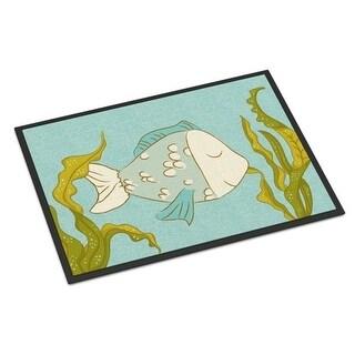 Carolines Treasures BB8545MAT Blue Fish Indoor or Outdoor Mat - 18 x 27 in.