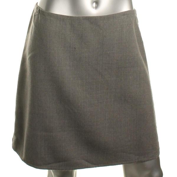 47a9078a08 Shop Theory Womens Irenah Saxton A-Line Skirt Virgin Wool Above Knee ...