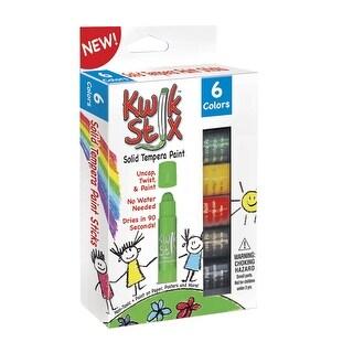 The Pencil Grip Kwik Stix Solid Tempera Paint, Assorted Colors, Set of 6
