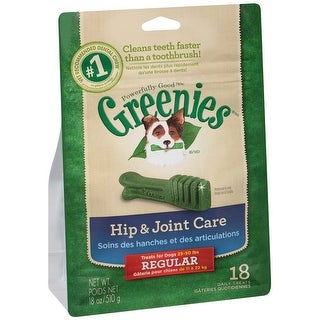 Greenies Hip & Joint Care Canine Dental Chews Regular 18oz