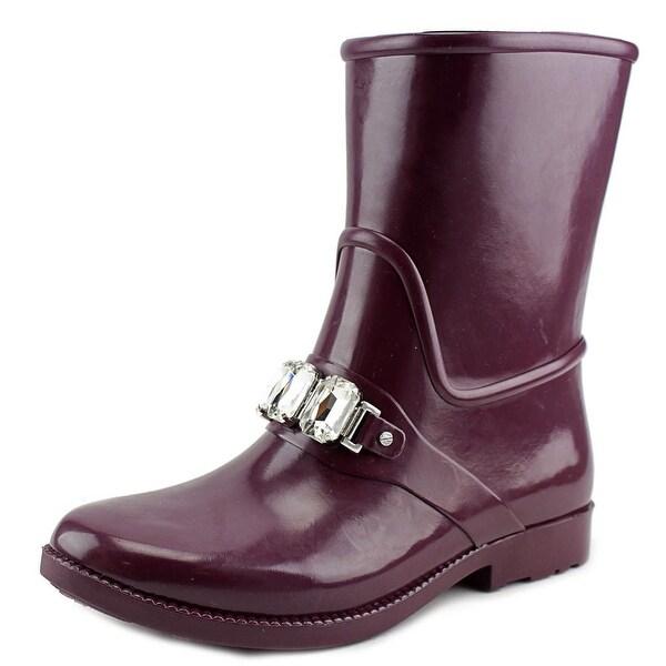 Michael Michael Kors Leslie Rainbootie Women Synthetic Purple Rain Boot