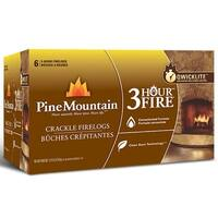 Pine Mountain 4152501321 3-Hour Crackling Fire Log, 6-Pack