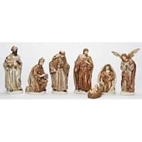 7-Piece Religious Have Faith Gold Finish Christmas Nativity Figure Set 12""