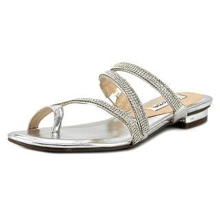 Nina Kaileen Women  Open Toe Synthetic Silver Sandals