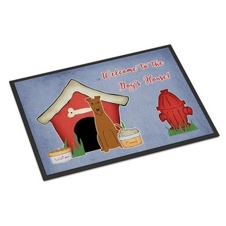 Carolines Treasures BB2816MAT Dog House Collection Irish Terrier Indoor or Outdoor Mat 18 x 0.25 x 27 in.