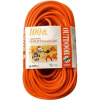 Coleman Cable 04219 Multi-Outlet Vinyl Extension Cord, Red